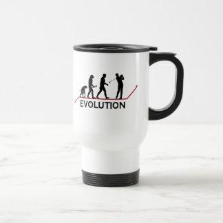 Evolución del golf taza de viaje