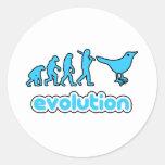 Evolución del gorjeo etiqueta redonda
