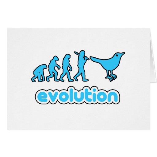 Evolución del gorjeo tarjeta de felicitación