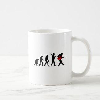 Evolución del guitarrista taza de café