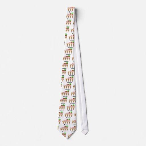 Evolución del helado corbatas personalizadas