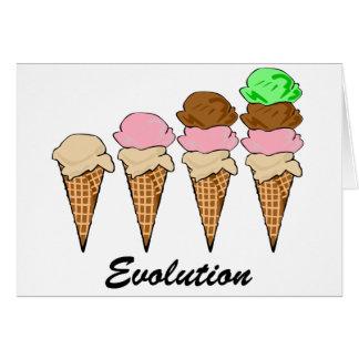 Evolución del helado tarjeta de felicitación