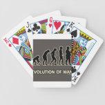 evolución del hombre baraja de cartas
