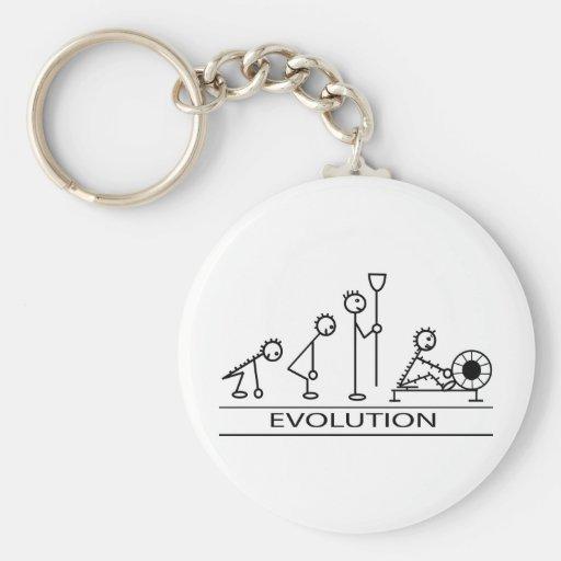 Evolución del hombre con el rowing llavero