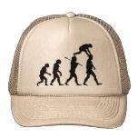 Evolución del hombre gorras de camionero