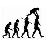 Evolución del hombre tarjetas postales