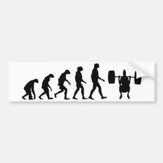 Evolución del levantamiento de pesas pegatina para auto