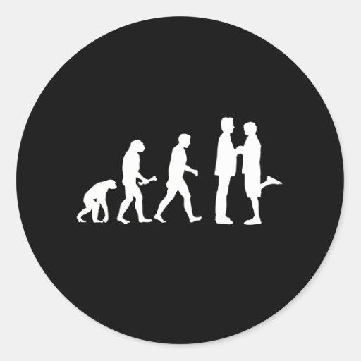 Evolución del matrimonio homosexual - etiquetas redondas