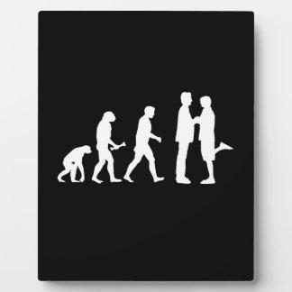 Evolución del matrimonio homosexual - placa