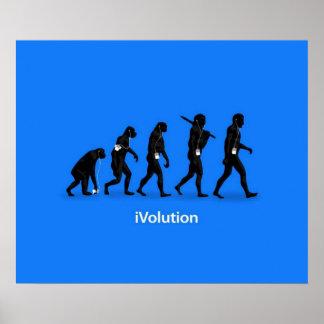 Evolución del mono al hombre con iPod Póster