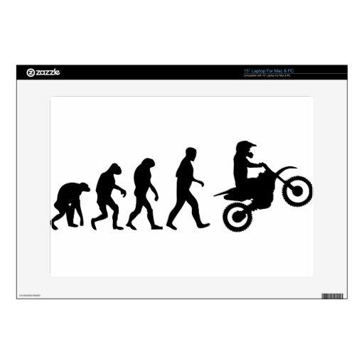 evolución del motocrós skins para portátiles