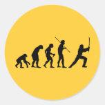 Evolución del Ninja - del hombre a Ninja Pegatina Redonda