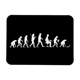 Evolución del ordenador portátil del hombre iman flexible