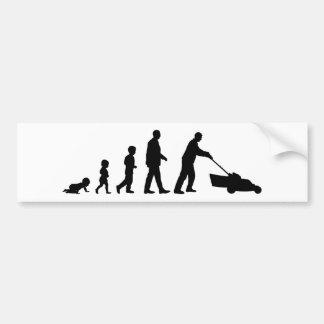 Evolución del papá - pegatina para el parachoques  etiqueta de parachoque