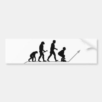 Evolución del patinador pegatina de parachoque