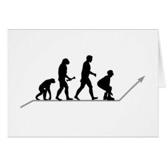 Evolución del patinador tarjeta de felicitación