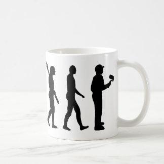 Evolución del pintor taza de café