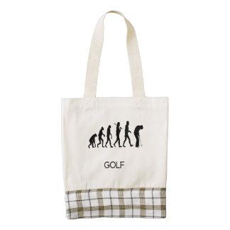 Evolución del putt del golf bolsa tote zazzle HEART