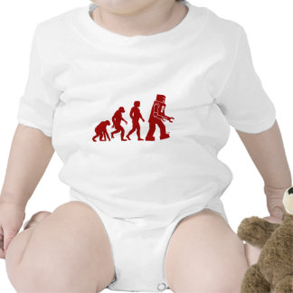 Evolución del robot del hombre en el robot camisetas