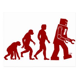 Evolución del robot - del hombre en los robots postal