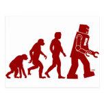 Evolución del robot - del hombre en los robots tarjetas postales
