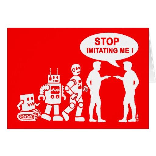 Evolución del robot tarjeta de felicitación