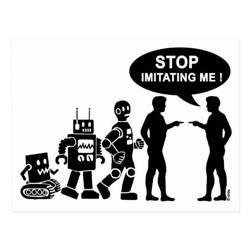 Evolución del robot tarjetas postales