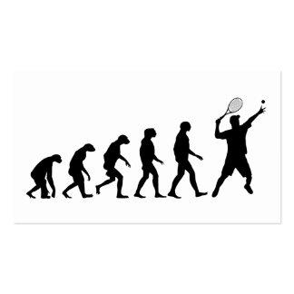Evolución del tenis tarjetas de visita