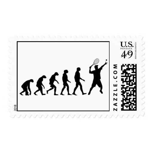 Evolución del tenis timbres postales