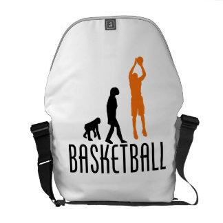 Evolución del tiro en suspensión del baloncesto n bolsa de mensajeria