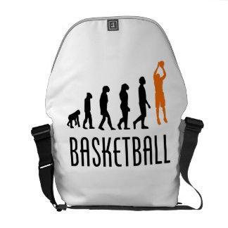 Evolución del tiro en suspensión del baloncesto n bolsa de mensajería