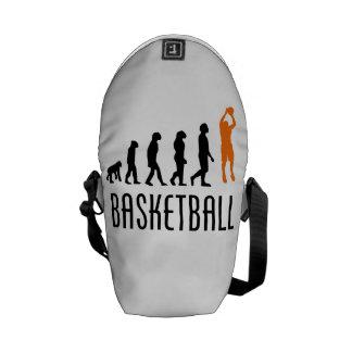 Evolución del tiro en suspensión del baloncesto n bolsas messenger