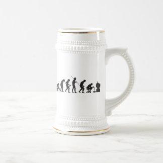 Evolución del videojugador del juego de los videoj taza de café