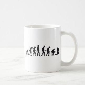 Evolución del videojugador tazas de café
