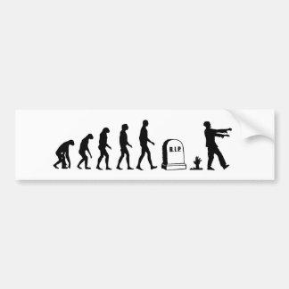 Evolución del zombi pegatina de parachoque