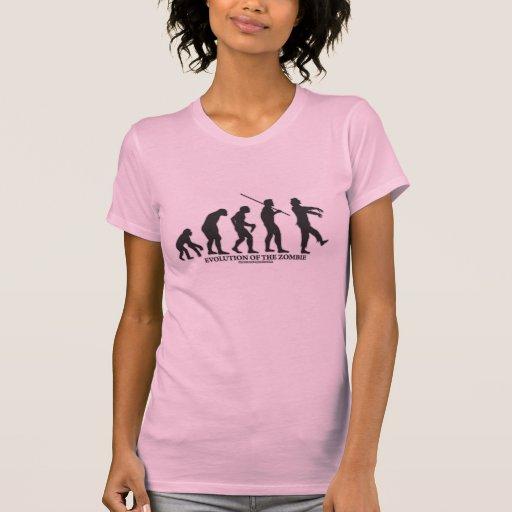 Evolución del zombi camiseta