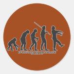 Evolución del zombi etiquetas redondas