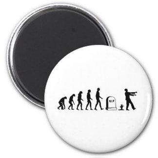 Evolución del zombi imán redondo 5 cm