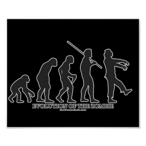 Evolución del zombi póster