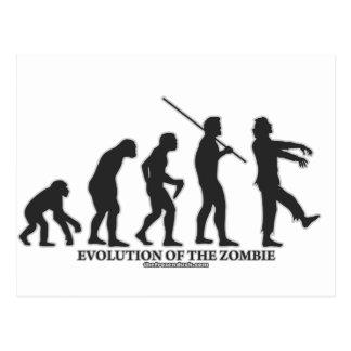 Evolución del zombi tarjeta postal