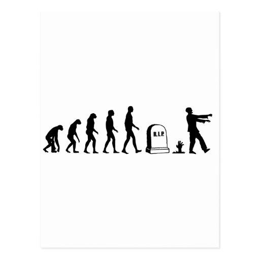 Evolución del zombi tarjetas postales
