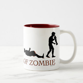 Evolución del zombi taza dos tonos