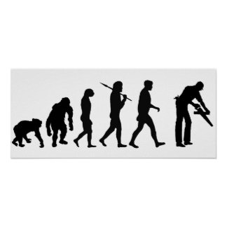 Evolución determinada del constructor del carpinte poster