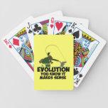 Evolución divertida barajas de cartas