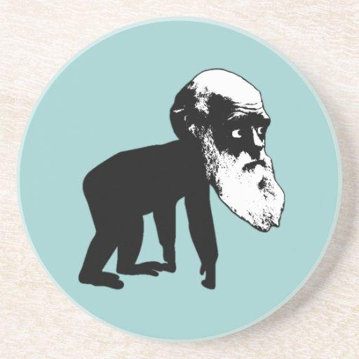 Evolución divertida de Darwin Posavasos Para Bebidas