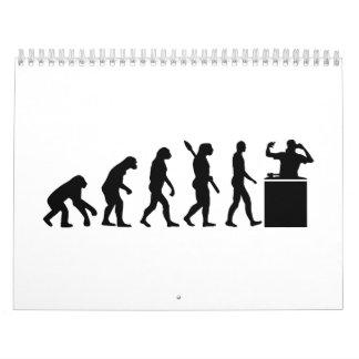 Evolución DJ Calendario De Pared