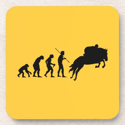 Evolución ecuestre del hombre a a caballo posavaso