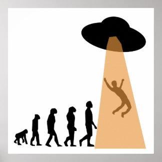 Evolución extranjera de la abducción del UFO Posters