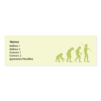 Evolución - flaca tarjetas de visita mini