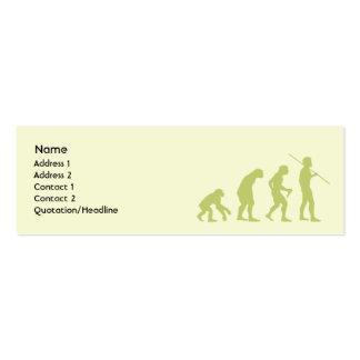 Evolución - flaca tarjetas de visita